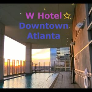 W Hotel Downtown Atlanta  | Modern Luxury and Contemporary Design | Fabulous King Size Corner Room