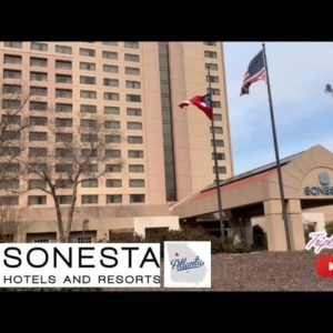 We stayed in a suite at the Sonesta Hotel in Atlanta,GA