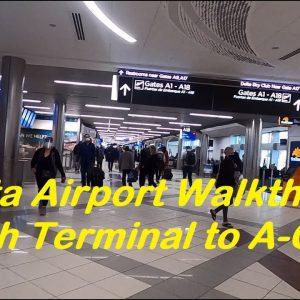 Atlanta Airport - Delta check-in and walkthrough, flight from Atlanta to Denver